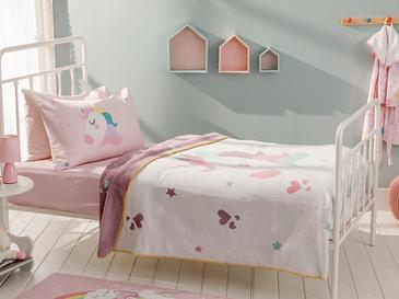 Unicorn Pamuklu Tek Kişilik Çocuk Battaniye 150x200 Cm Ekru