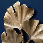 Gingko Duvar Aksesuarı 29.5x27.5x2.8cm Gold