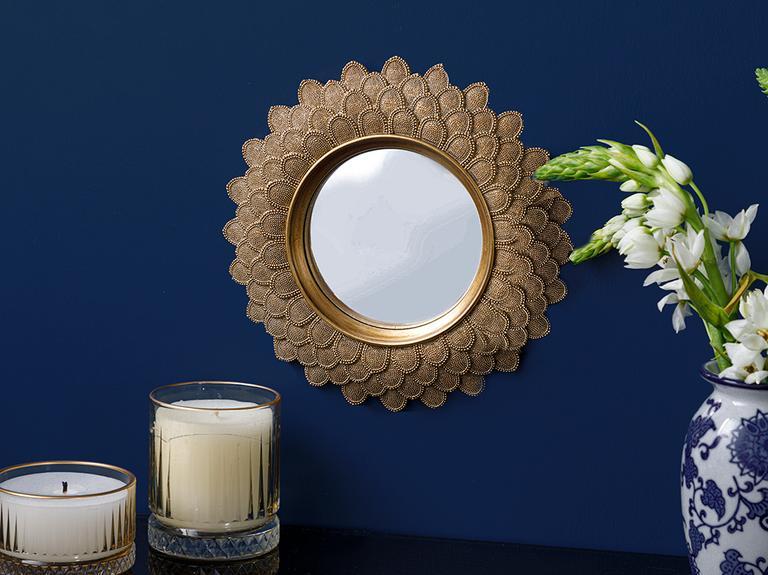 Golden Ayna 25.5x25.8x2cm Gold
