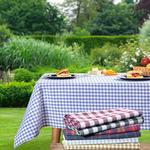 Plaid Pamuklu Piknik Örtüsü 160x160 Cm Bordo