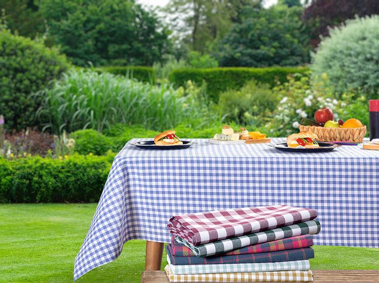 Petit Plaid Pamuklu Piknik Örtüsü 160x160 Cm Kivi Yeşili