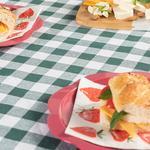 Plaid Pamuklu Piknik Örtüsü 160x160 Cm Yeşil