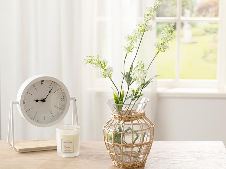 Lavender Field Tek Dal Yapay Çiçek 73 Cm Beyaz