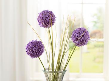 Grass Bush Tek Dal Yapay Çiçek 63 Cm Mor