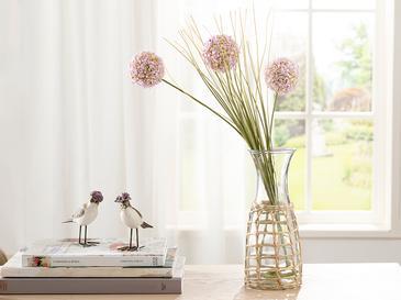 Grass Bush Tek Dal Yapay Çiçek 63 Cm Açık Pembe