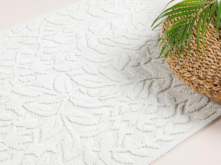 Timeless Floral Pamuklu Kilim 120x180 Cm Beyaz