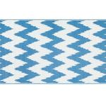 Chevron Polipropilen Plaj Hasırı 90x180 Cm Beyaz - Mavi