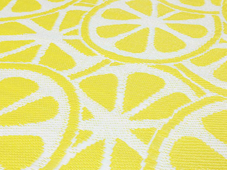 Lemon Polipropilen Plaj Hasırı 90x180 Cm Sarı