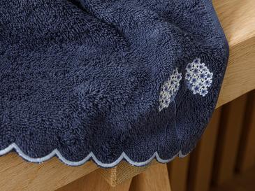 Hyrangea Bouquet Nakışlı El Havlusu 30x45 Cm Lacivert