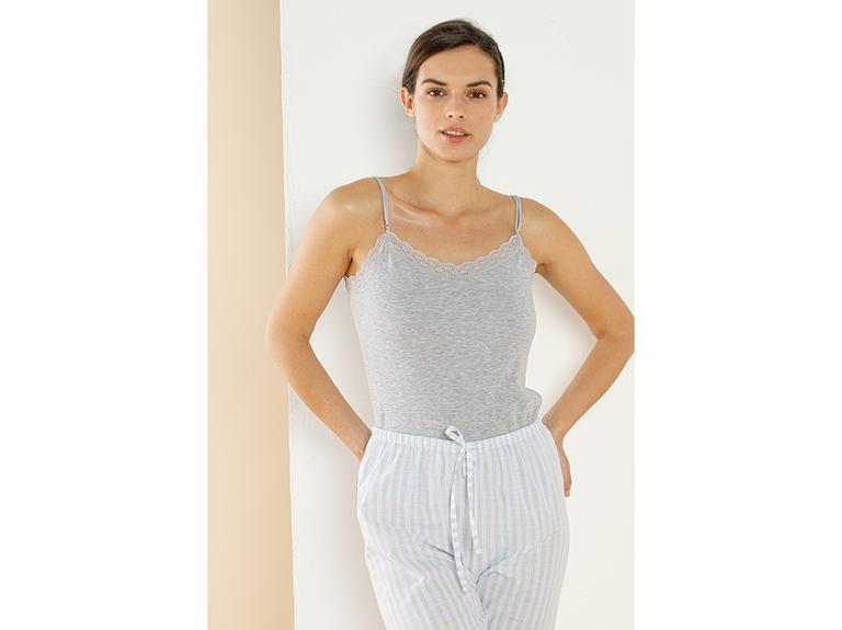 Basic Cotton İnce Askılı Pamuklu Kadın Atlet XL Gri