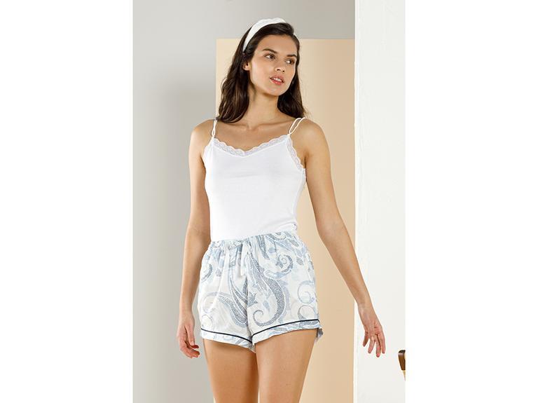 Basic Cotton İnce Asklılı Pamuk Kadın Atlet XL Beyaz