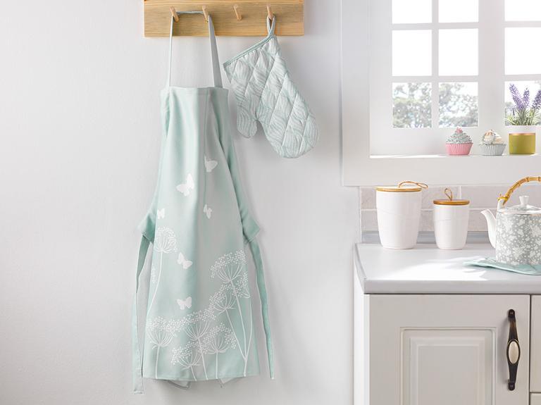 Chervil Polyester Ayarlanabilir Mutfak Önlüğü 65x75 Cm Yeşil