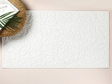 Timeless Floral Pamuklu Kilim 80x150 Cm Beyaz