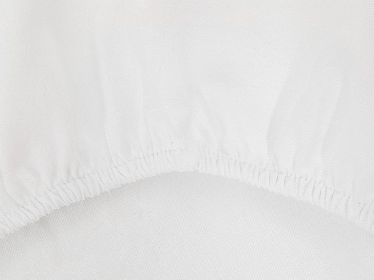 Crystal İpeksi Twill Çift Kişilik Nevresim Takımı 200x220 Cm Beyaz