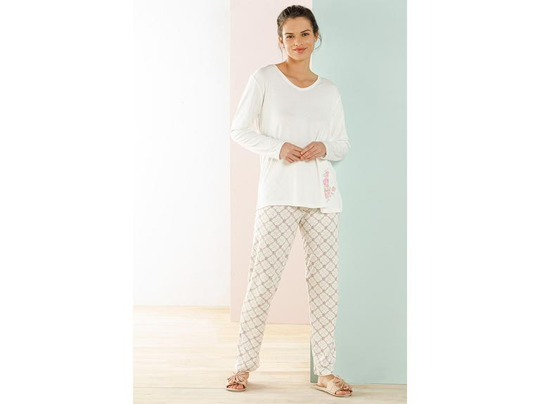 Art Bloom Viskon Pijama Takımı S-m Beyaz