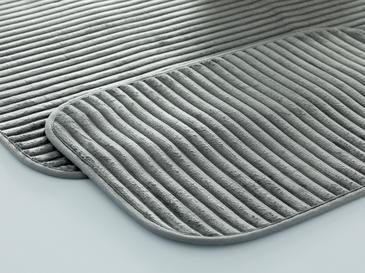 Cord Fitilli 2'li Banyo Paspası Seti 60x90-40x60 Cm Antrasit