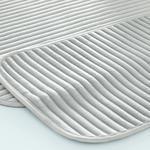 Cord Fitilli 2'li Banyo Paspası Seti 60x90-40x60 Cm Açık Gri