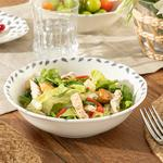 Clover Leaf Porselen Salata Kasesi 20 Cm Beyaz - Mavi