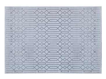Velvet Geometric Kadife Halı 200x290 Gri