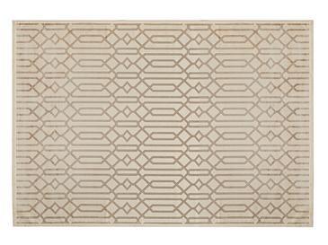 Velvet Geometric Kadife Halı 160x230 Cm Bej