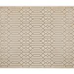 Velvet Geometric Kadife Halı 80x140 Cm Bej