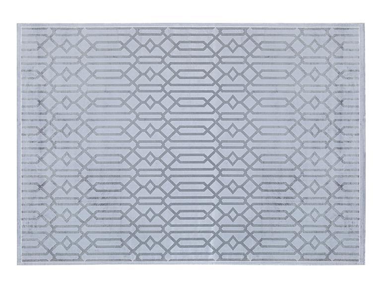 Velvet Geometric Kadife Halı 120x180 Cm Gri