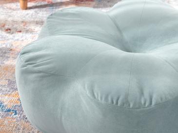 Bloom Kadife Puf 60x60x17cm Su Yeşili