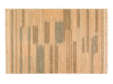Ethnic Stripe Jüt Halı 120x180 Cm Kahve