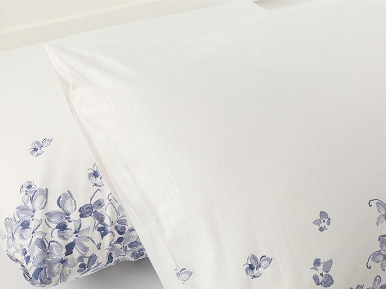 Hydrangea Garden Pamuklu 2'li Yastık Kılıfı 50x70 Cm Ortanca