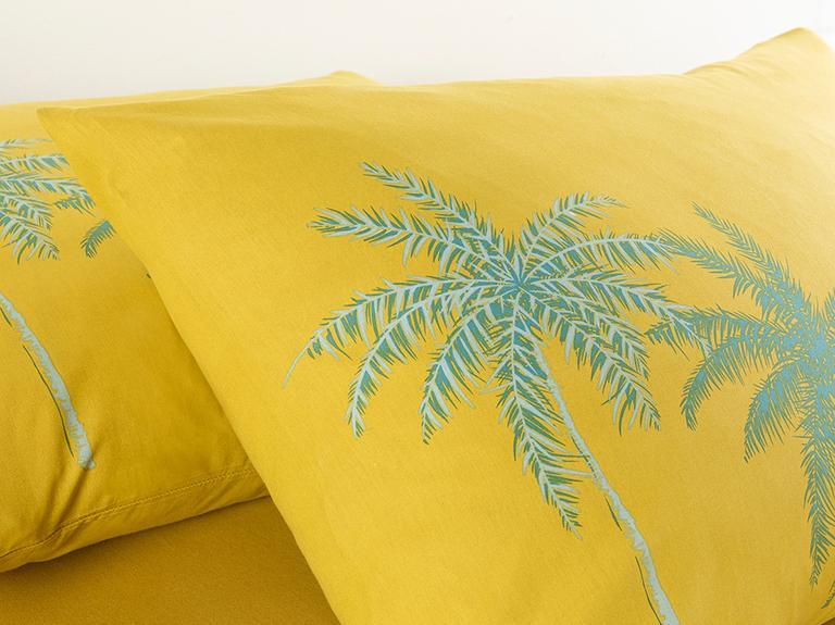 Glitter Palm Pamuklu 2'li Yastık Kılıfı 50x70 Cm Kivi Yeşili