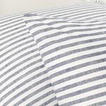 Modern Stripe Kombin Pamuklu 2'li Yastık Kılıfı 50x70 Cm Lacivert