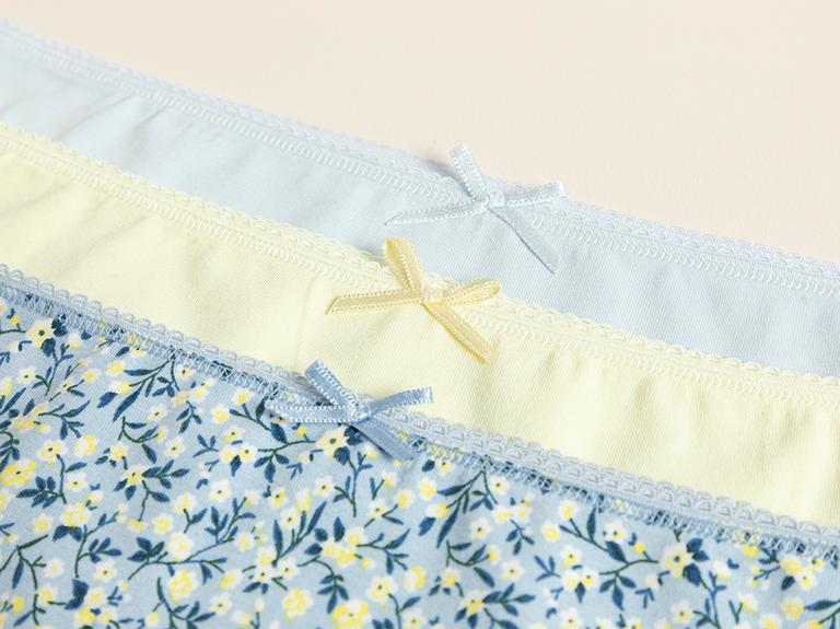 Blue Spring Pamuk Desenli Külot L Mavi-sarı