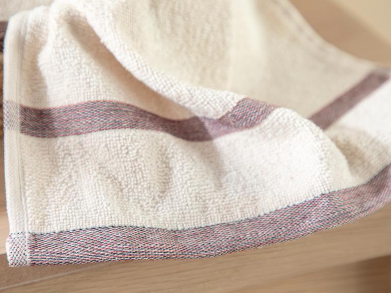 Stripe Blush Yıkamalı El Havlusu 30x45 Cm Bej – Bordo