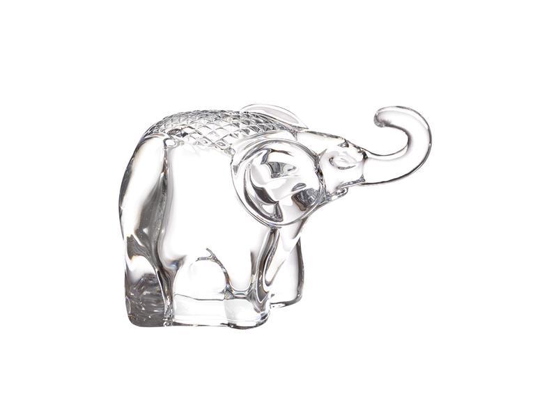 Elephant Biblo 11.5x5.5x12.5cm Şeffaf