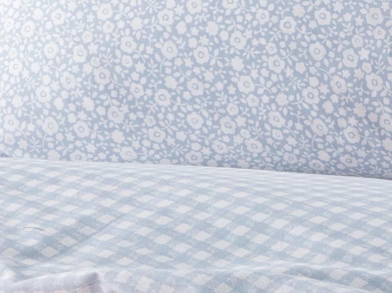 Liberty Blossom Pamuklu Çift Kişilik Nevresim Seti 200x220 Cm Mavi
