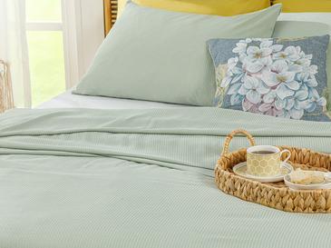 Cool Stripe Soft Touch King Size Pike Seti 220x240 Cm Seledon