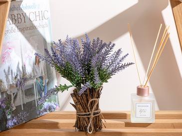 Lavender Leaves Vazolu Yapay Çiçek 23 Cm Mor