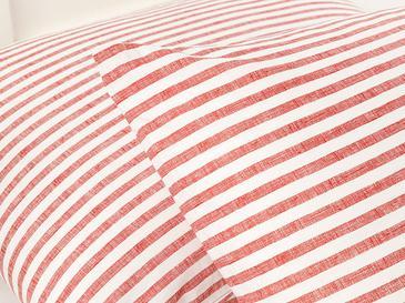 Modern Stripe Kombin Pamuklu 2'li Yastık Kılıfı 50x70 Cm Kırmızı