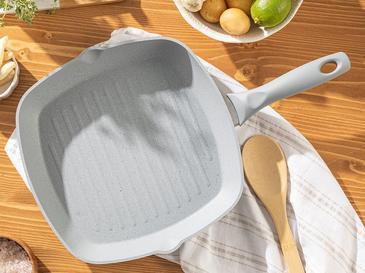 Ava Granit Grill Tava 28 Cm Gri