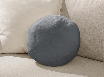 Ball Peluş Dekoratıf Kırlent 40 Cm Koyu Gri