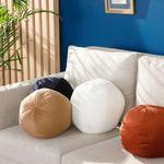 Ball Peluş Dekoratif Kırlent 40 Cm Açık Bej