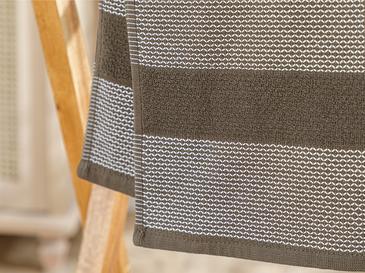 Elegant Lines Pes Jakarlı Yüz Havlusu 50x80 Cm Kahverengi