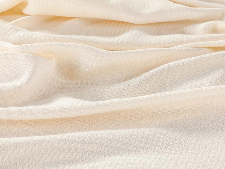 Cool Stripe Soft Touch Tek Kişilik Pike Seti 150x220 Cm Fildişi