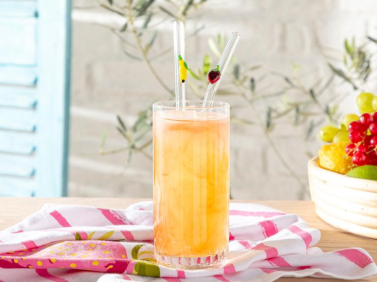 Strawberry-lemon Cam Pipet 20 Cm Kırmızı-sarı
