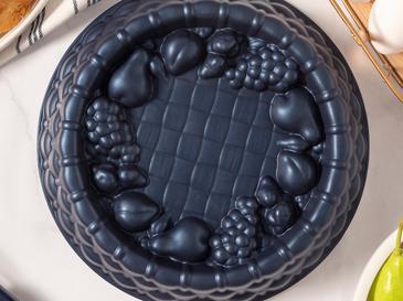 Confetti Döküm Granit Meyveli Tart Kalıbı 25x6 Cm Lacivert