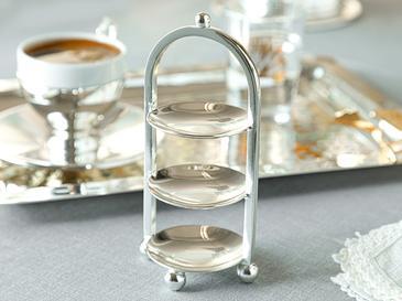 Silvery Gümüş Kaplama 3 Katlı Lokumluk 14 Cm.. Gümüş