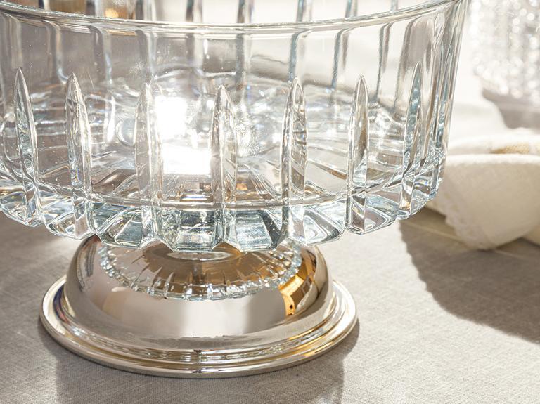Silvery Gümüş Kaplama Ayaklı Kase 25 Cm Gümüş