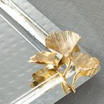Gingko Silvery Gümüş Kaplama Tepsi 31x21,5 Cm Gümüş