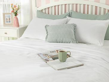 Cool Stripe Soft Touch King Size Pike Seti 220x240 Cm Beyaz