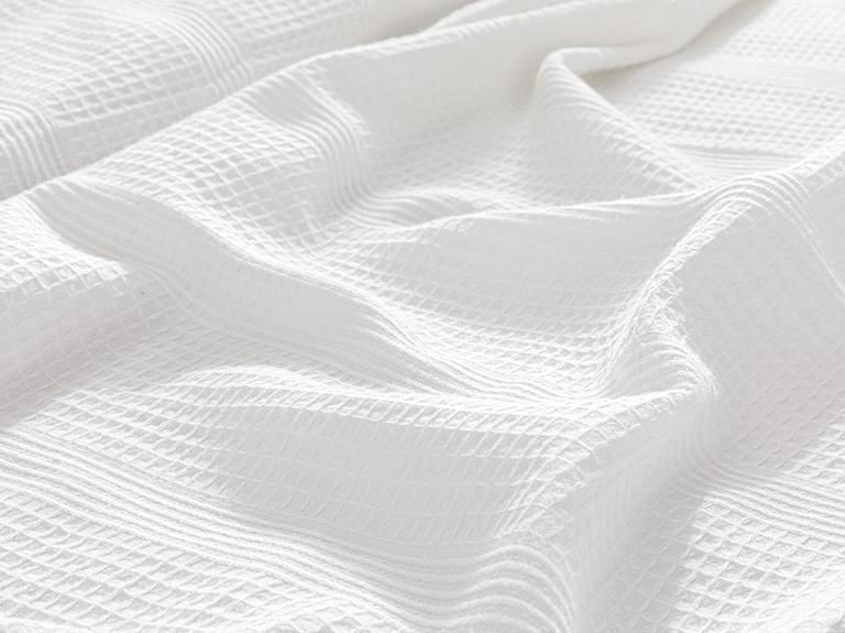 Düz Pamuklu Tek Kişilik Pike 150x230 Cm Beyaz